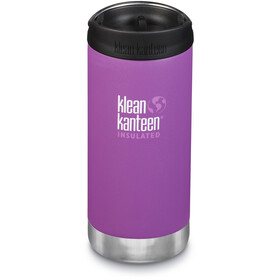 Klean Kanteen TKWide Bottle with Cafe Cap 355ml Vacuum Insulated berry bright matte